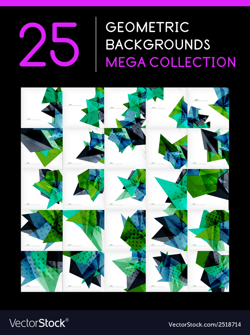 Mega collection of geometric abstract backgrounds vector | Price: 1 Credit (USD $1)