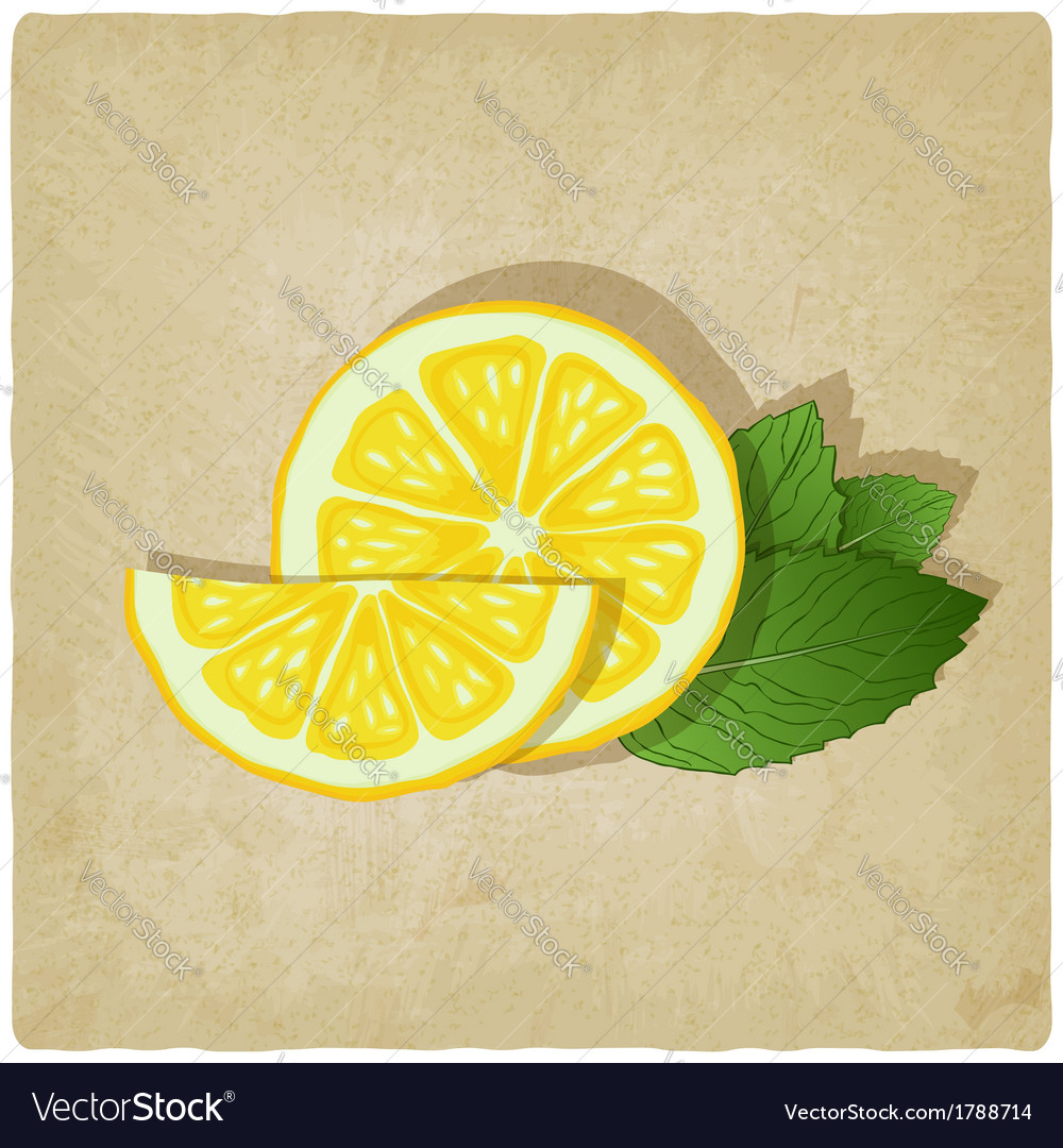 Old background with lemon vector | Price: 1 Credit (USD $1)