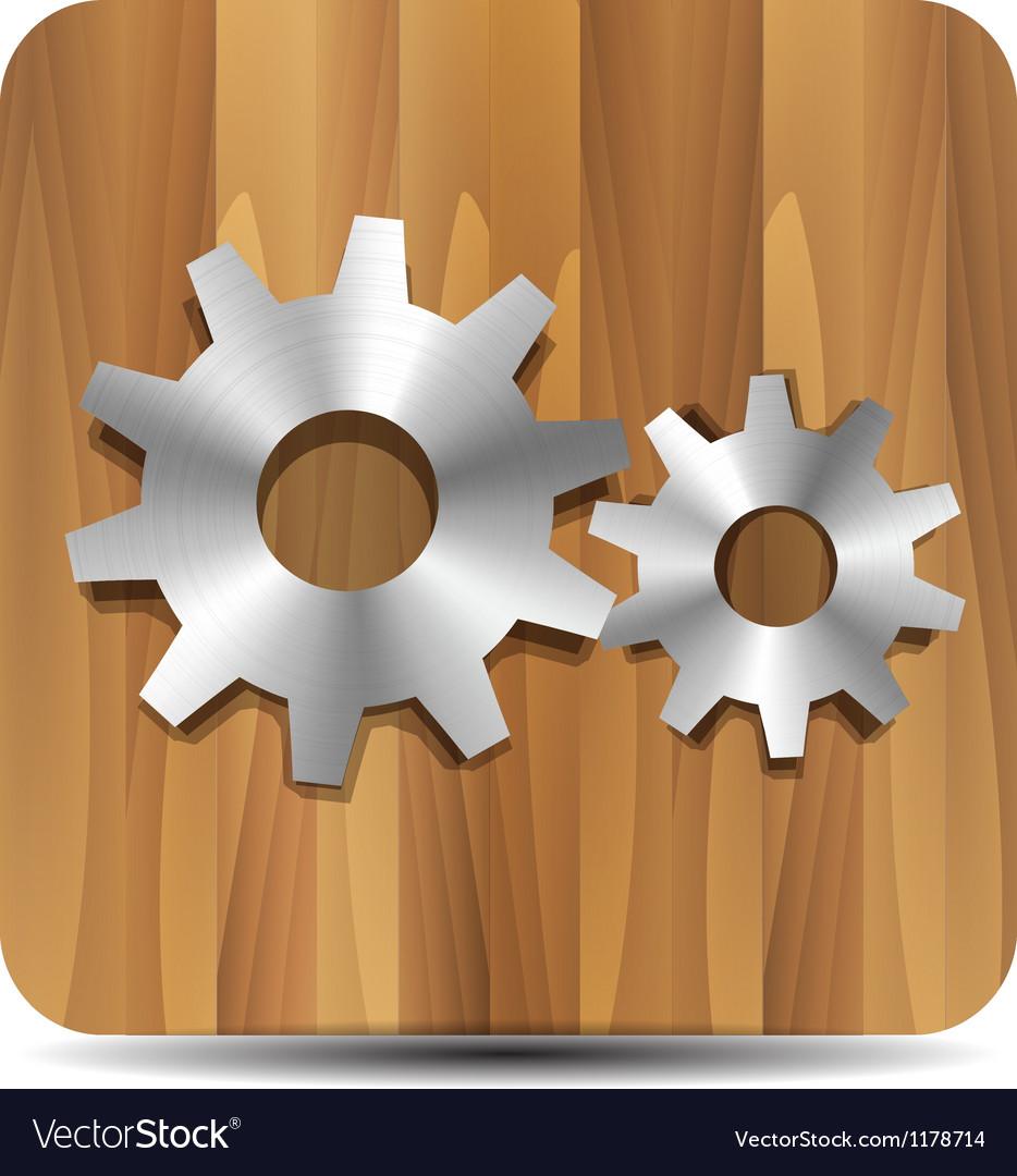 Settings  administrator  cogwheel on wood vector | Price: 1 Credit (USD $1)