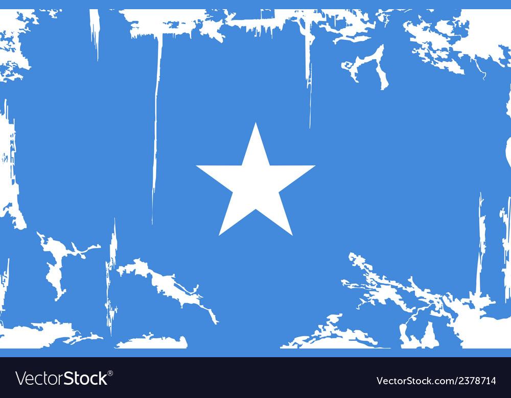 Somalia grunge flag vector | Price: 1 Credit (USD $1)