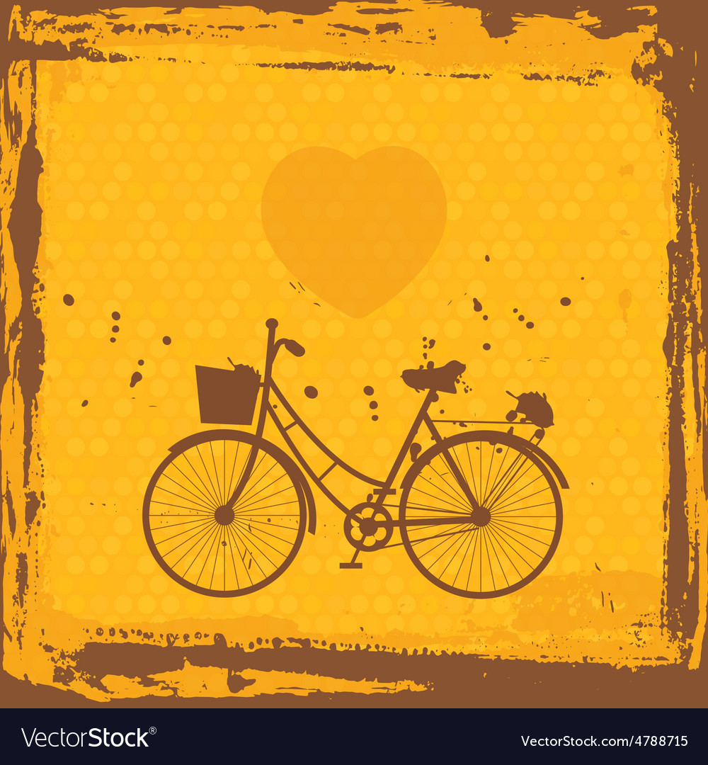 Abstract grunge frame bicycle silhouette on vector | Price: 1 Credit (USD $1)