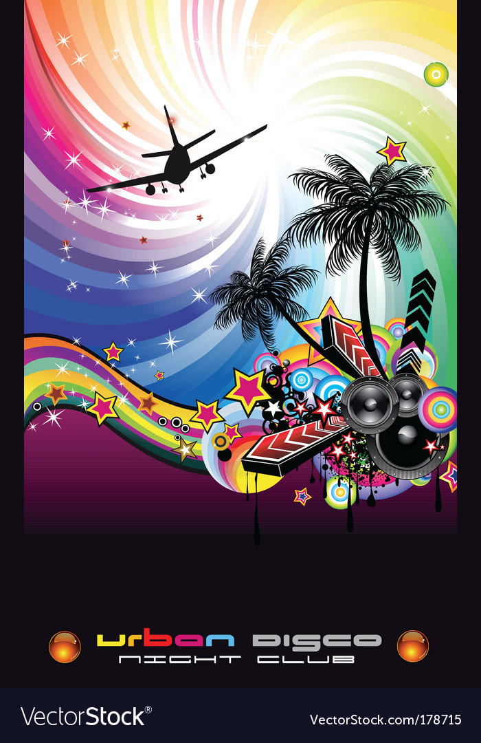 Disco flyer latin style vector | Price: 3 Credit (USD $3)