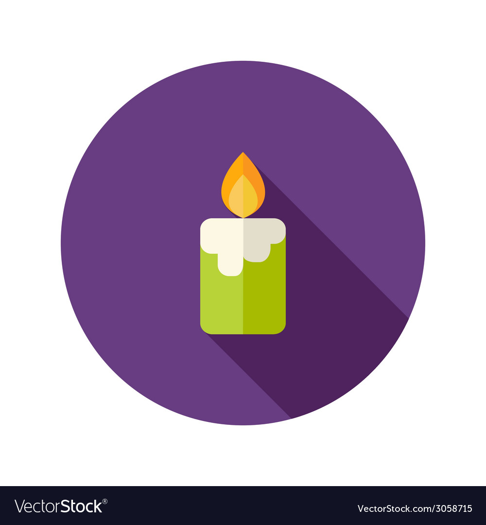 Halloween candle flat icon vector | Price: 1 Credit (USD $1)