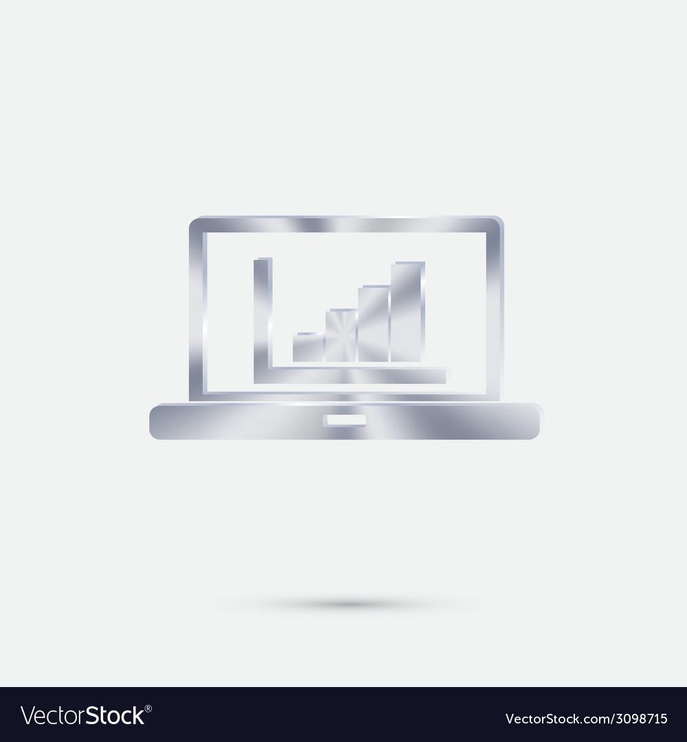 Laptop with symbol diagram vector | Price: 1 Credit (USD $1)
