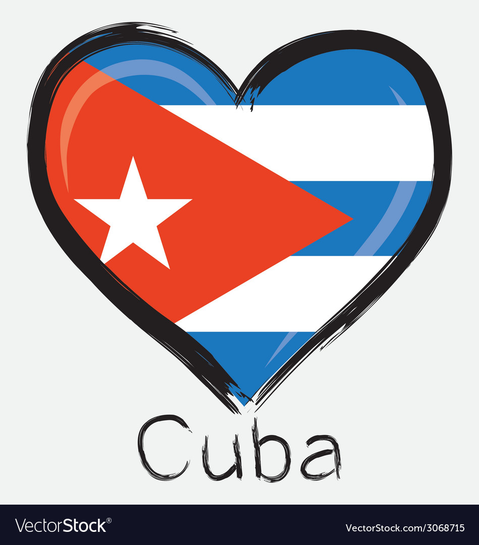 Love cuba flag vector | Price: 1 Credit (USD $1)