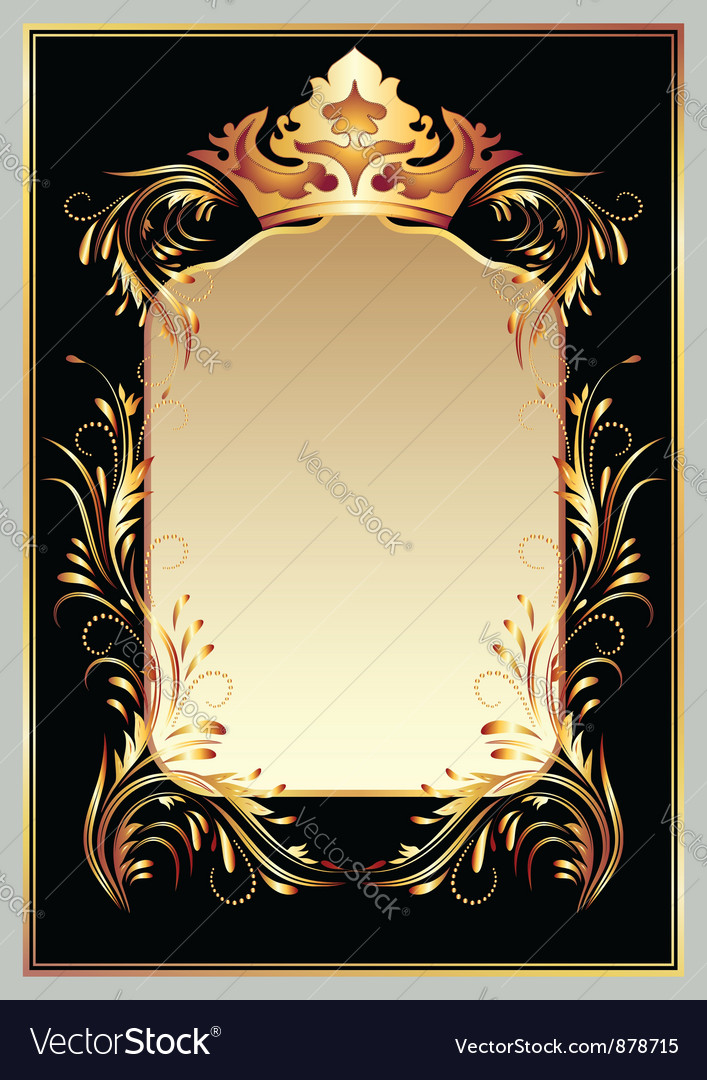 Luxurious golden ornament and crown vector | Price: 1 Credit (USD $1)