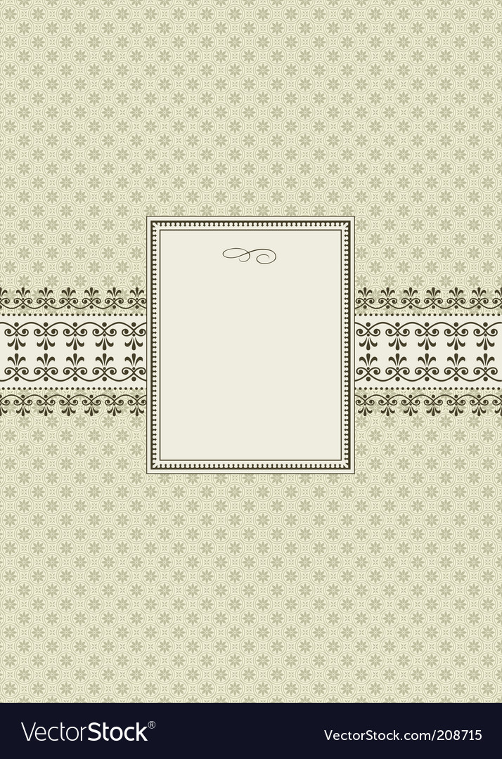 Seamless pattern and ornamental frame vector | Price: 1 Credit (USD $1)