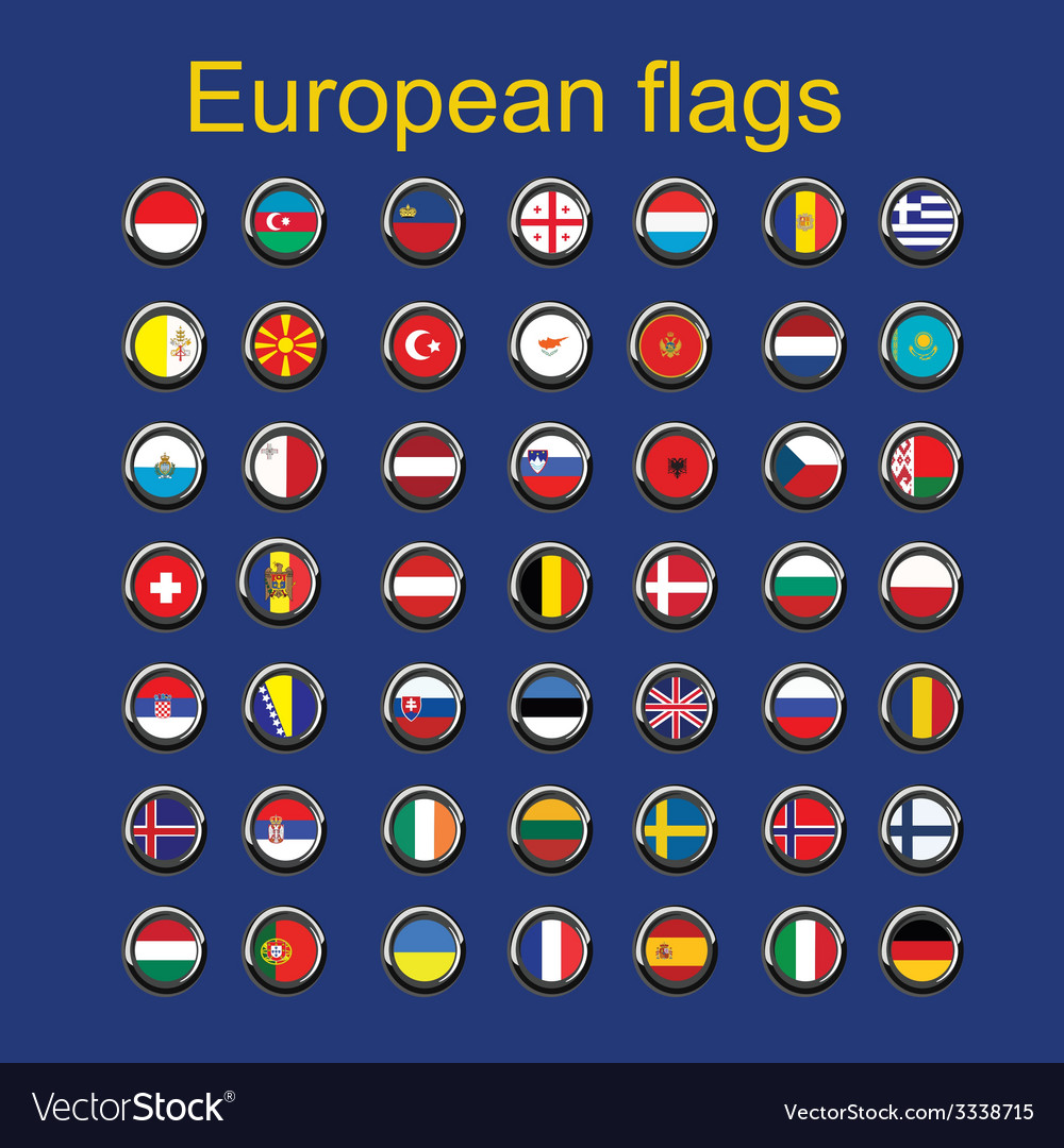 Set euroupe flags vector | Price: 1 Credit (USD $1)