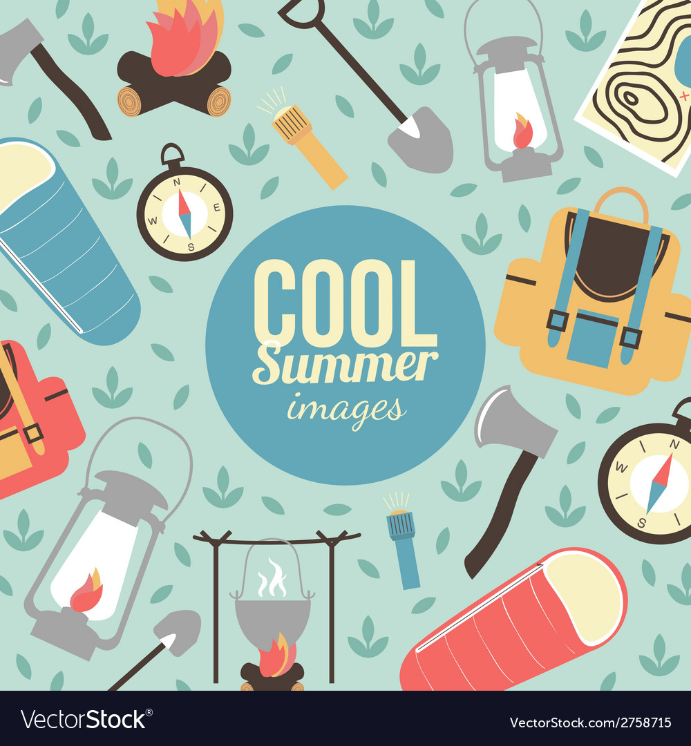 Summertime vacations and traveling background vector | Price: 1 Credit (USD $1)