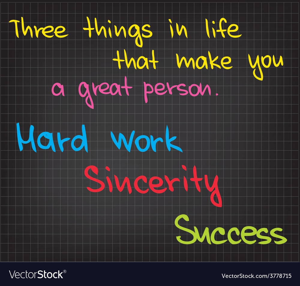 Three things in life vector | Price: 1 Credit (USD $1)