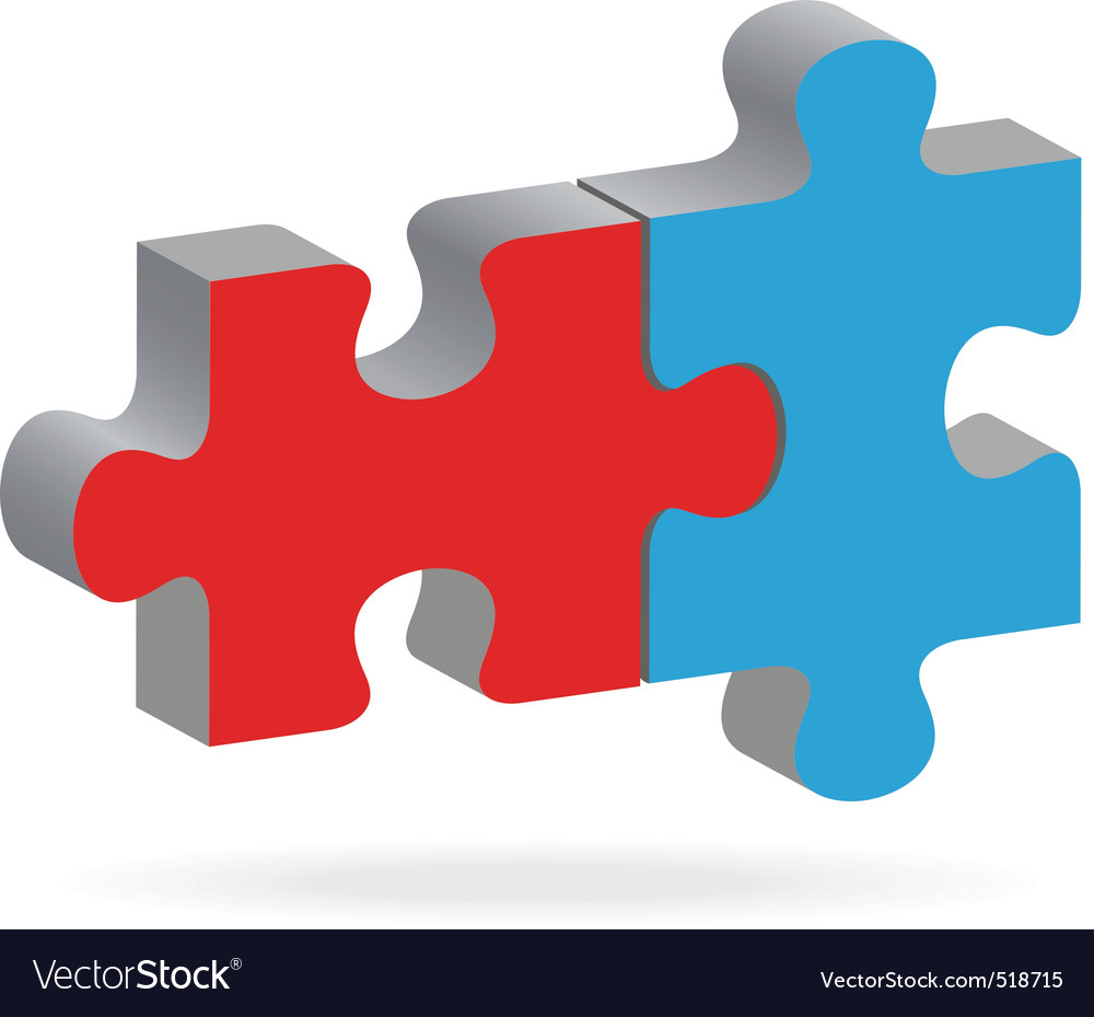 Two puzzles vector | Price: 1 Credit (USD $1)