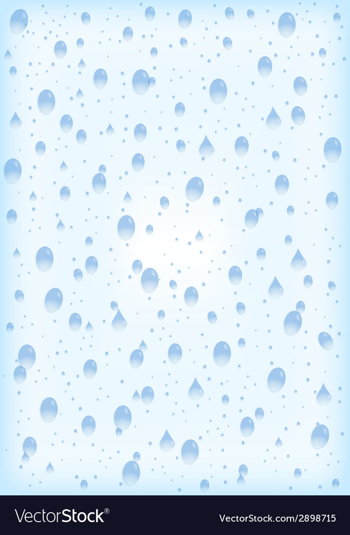 Water drops with background vector | Price: 1 Credit (USD $1)