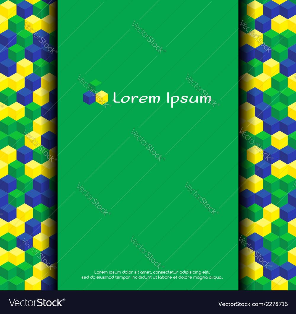Brazilian colors background vector | Price: 1 Credit (USD $1)