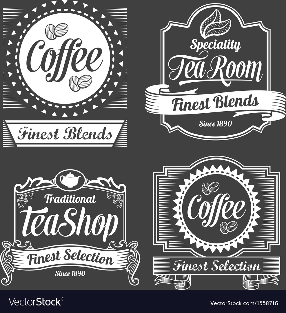 Chalkboard calligraphy banners and labels vector | Price: 3 Credit (USD $3)