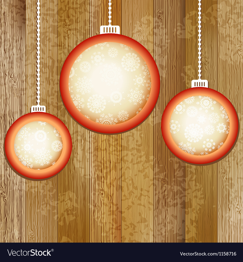 Christmas balls with place for copyspace  eps8 vector | Price: 1 Credit (USD $1)