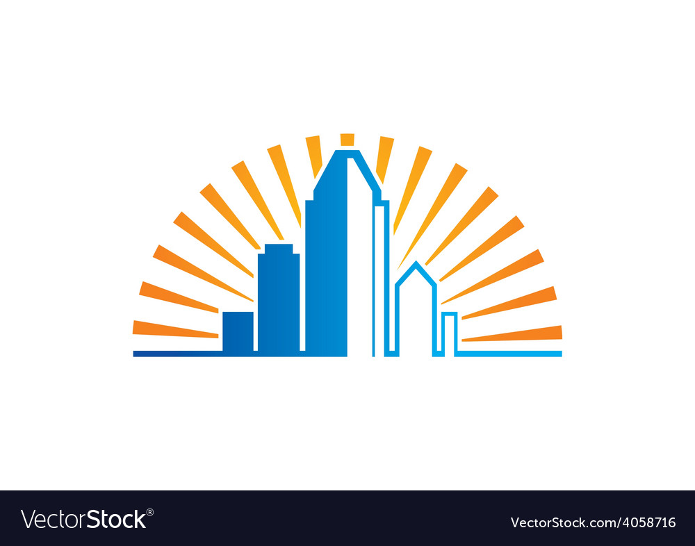 City modern building logo vector | Price: 1 Credit (USD $1)