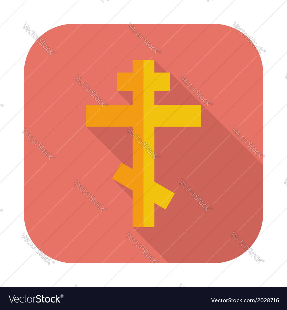 Cross single flat icon vector | Price: 1 Credit (USD $1)