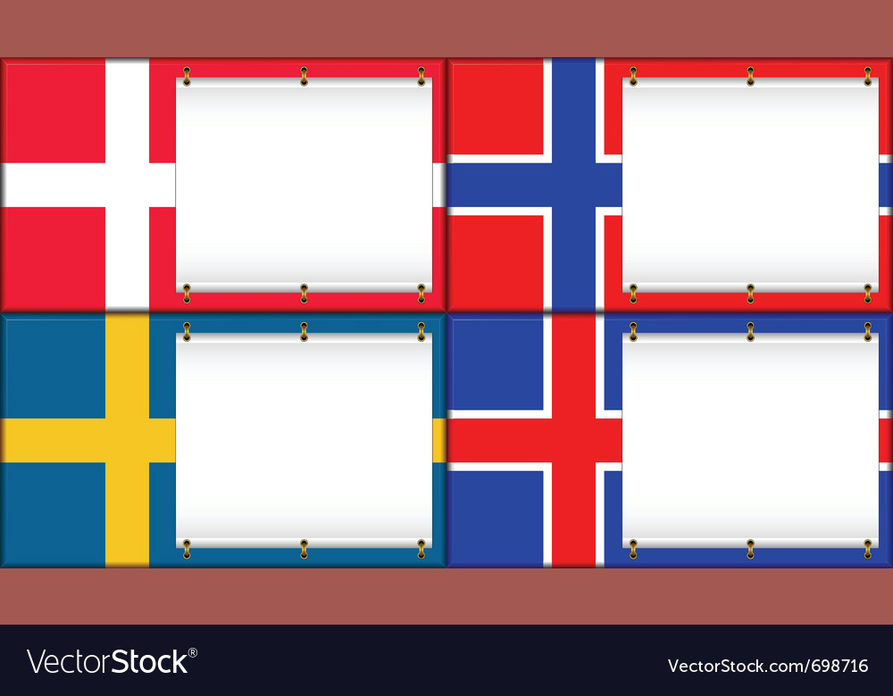 Denmark norway sweden iceland vector | Price: 1 Credit (USD $1)