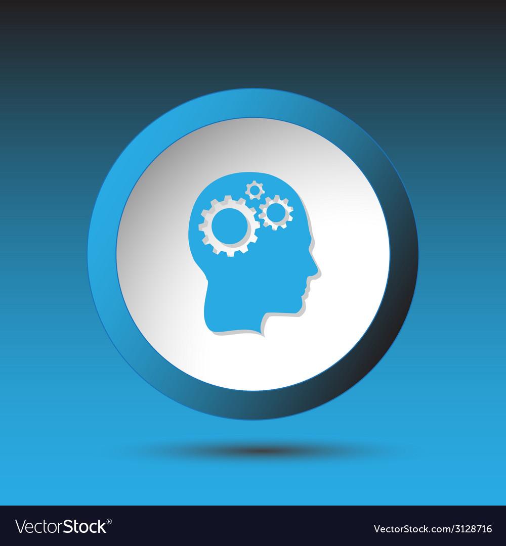 Human brain plastic button vector   Price: 1 Credit (USD $1)