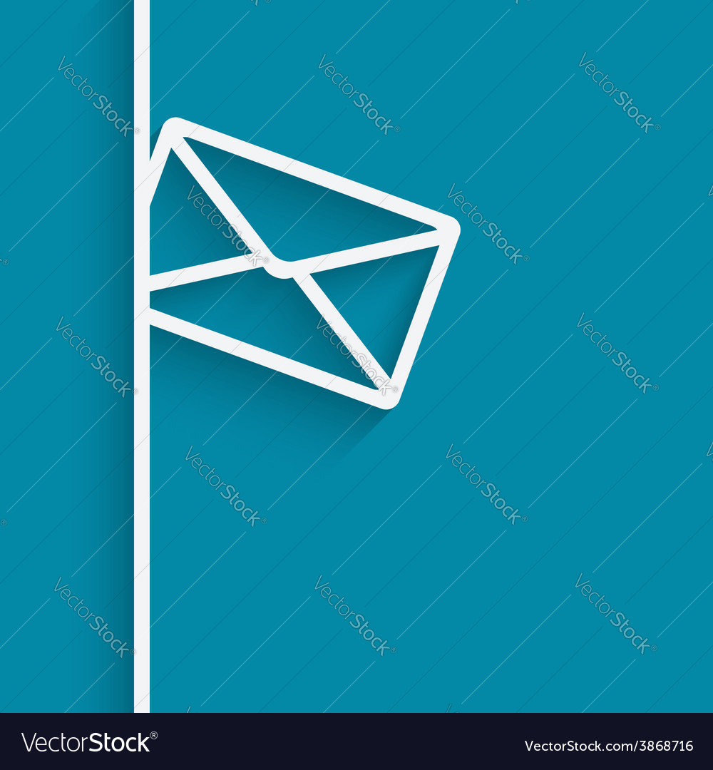 Mail blue background vector | Price: 1 Credit (USD $1)
