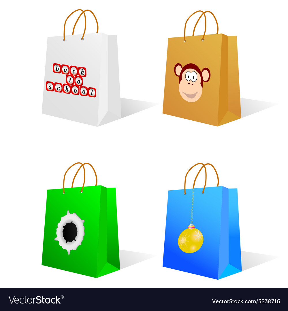 Paper bag with an on it vector | Price: 1 Credit (USD $1)