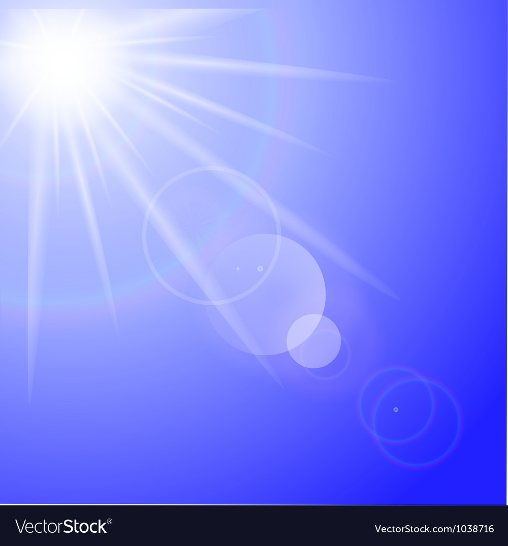 Sun with lens flare background vector | Price: 1 Credit (USD $1)