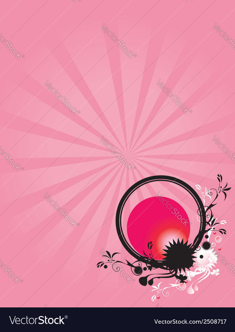 Abstract floral circle pink background 1 vector | Price: 1 Credit (USD $1)