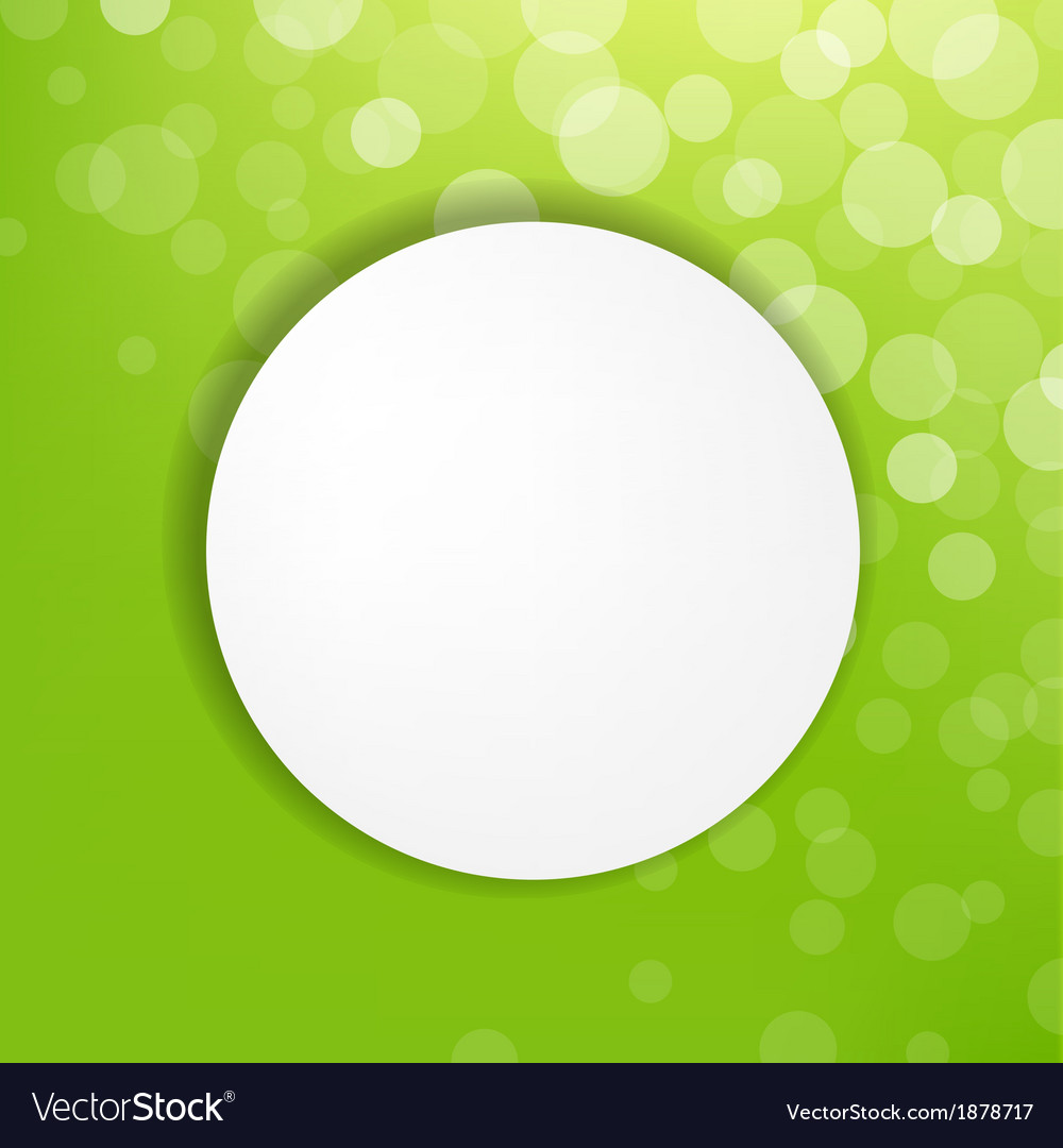 Abstract green bubble with speech bubble vector | Price: 1 Credit (USD $1)