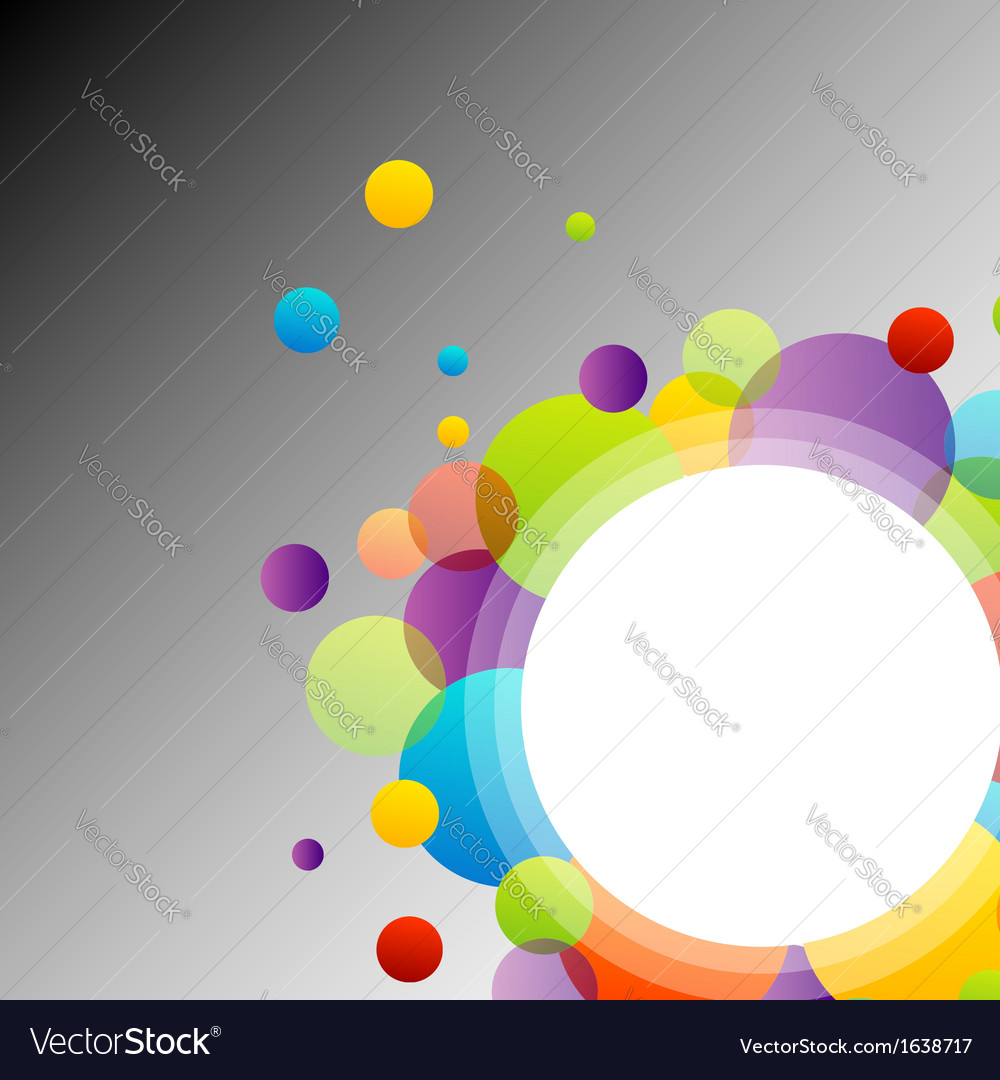 Background with colorful circles vector | Price: 1 Credit (USD $1)