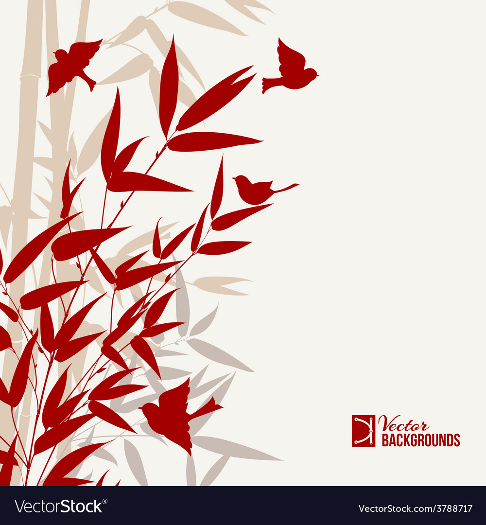 Bamboo print vector | Price: 1 Credit (USD $1)
