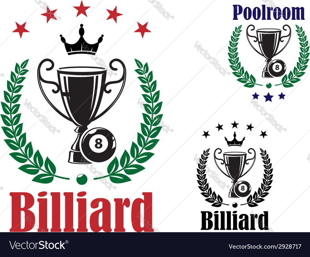Billiard trophy cup vector | Price: 1 Credit (USD $1)