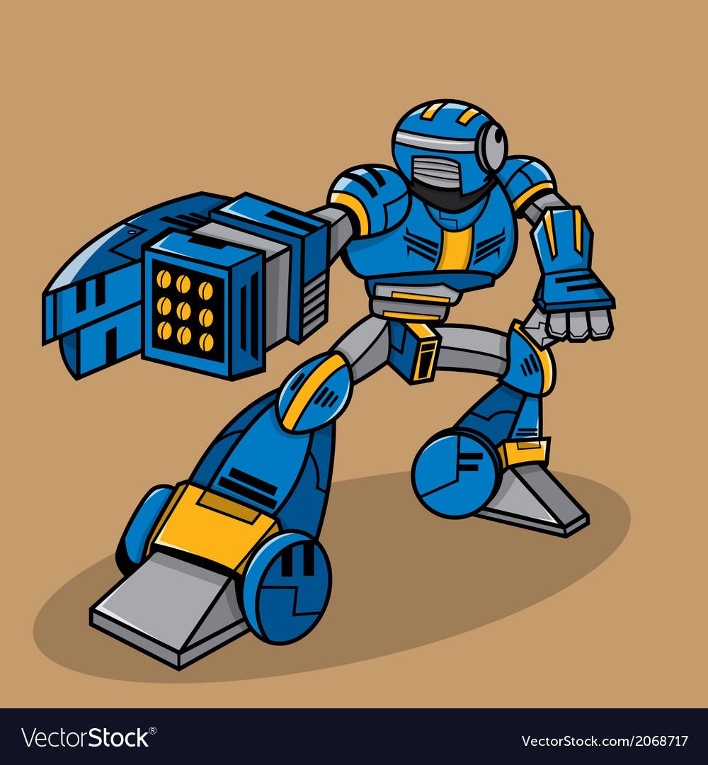 Cartoon robot vector | Price: 1 Credit (USD $1)
