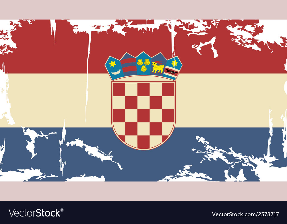 Croatian grunge flag vector | Price: 1 Credit (USD $1)
