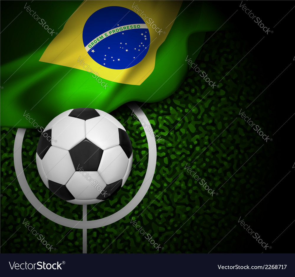 Flag brasil field vector | Price: 1 Credit (USD $1)