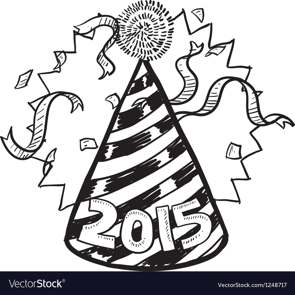 Happy new year hat 2015 vector | Price: 1 Credit (USD $1)