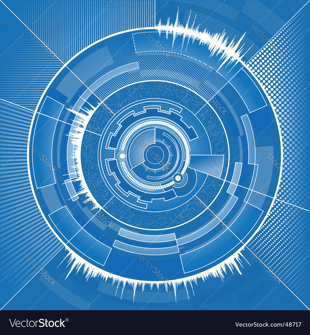 High tech circle vector | Price: 1 Credit (USD $1)