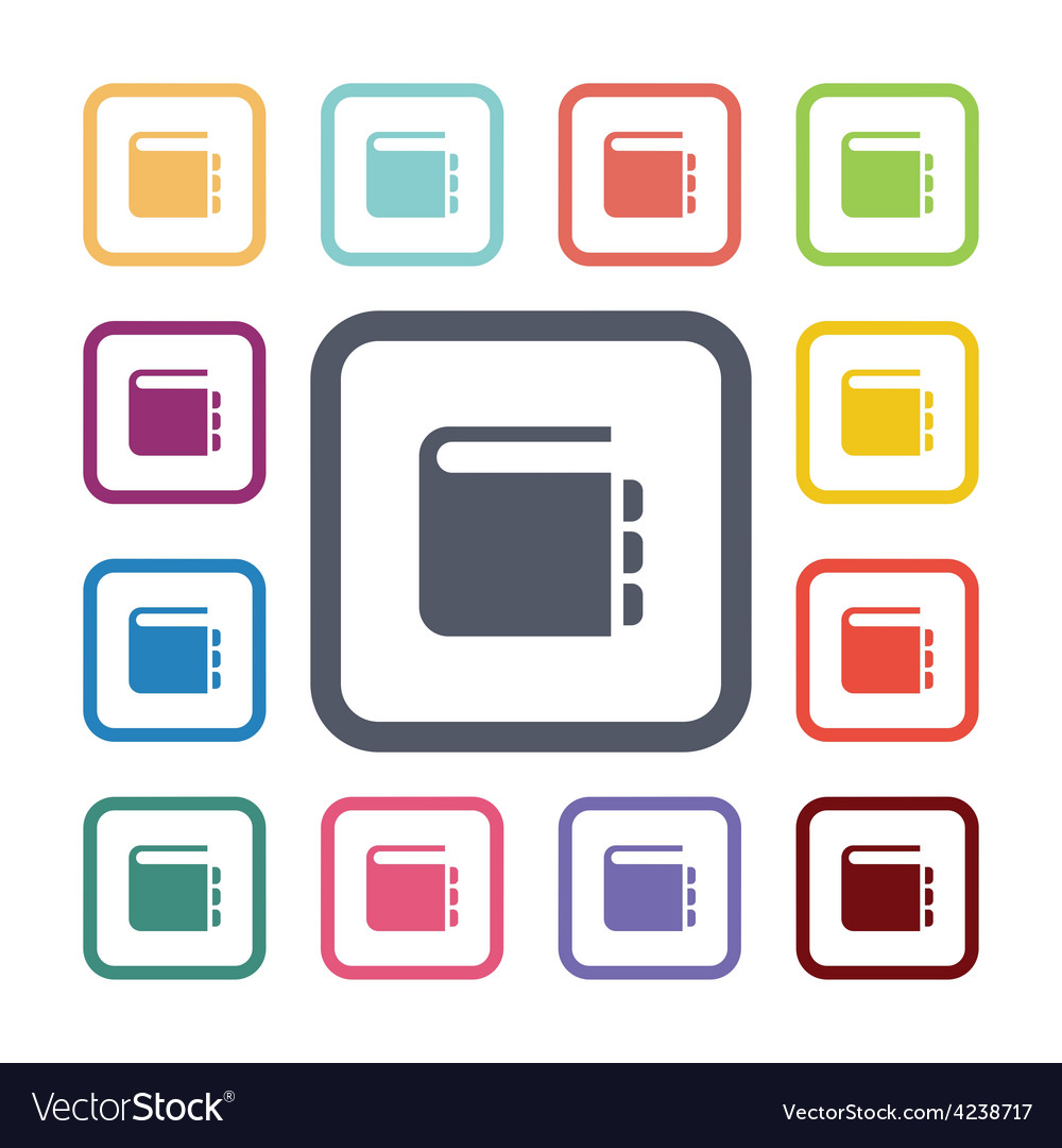 Notepad flat icons set vector   Price: 1 Credit (USD $1)