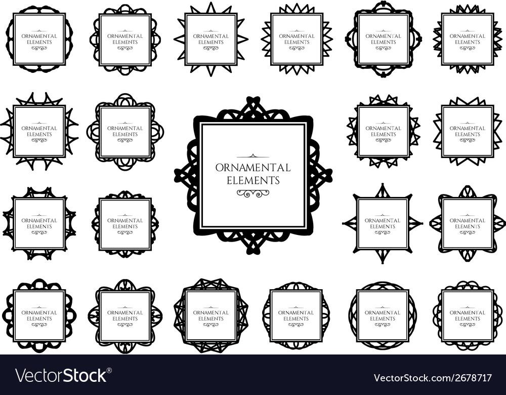 Ornamental frame set vector | Price: 1 Credit (USD $1)