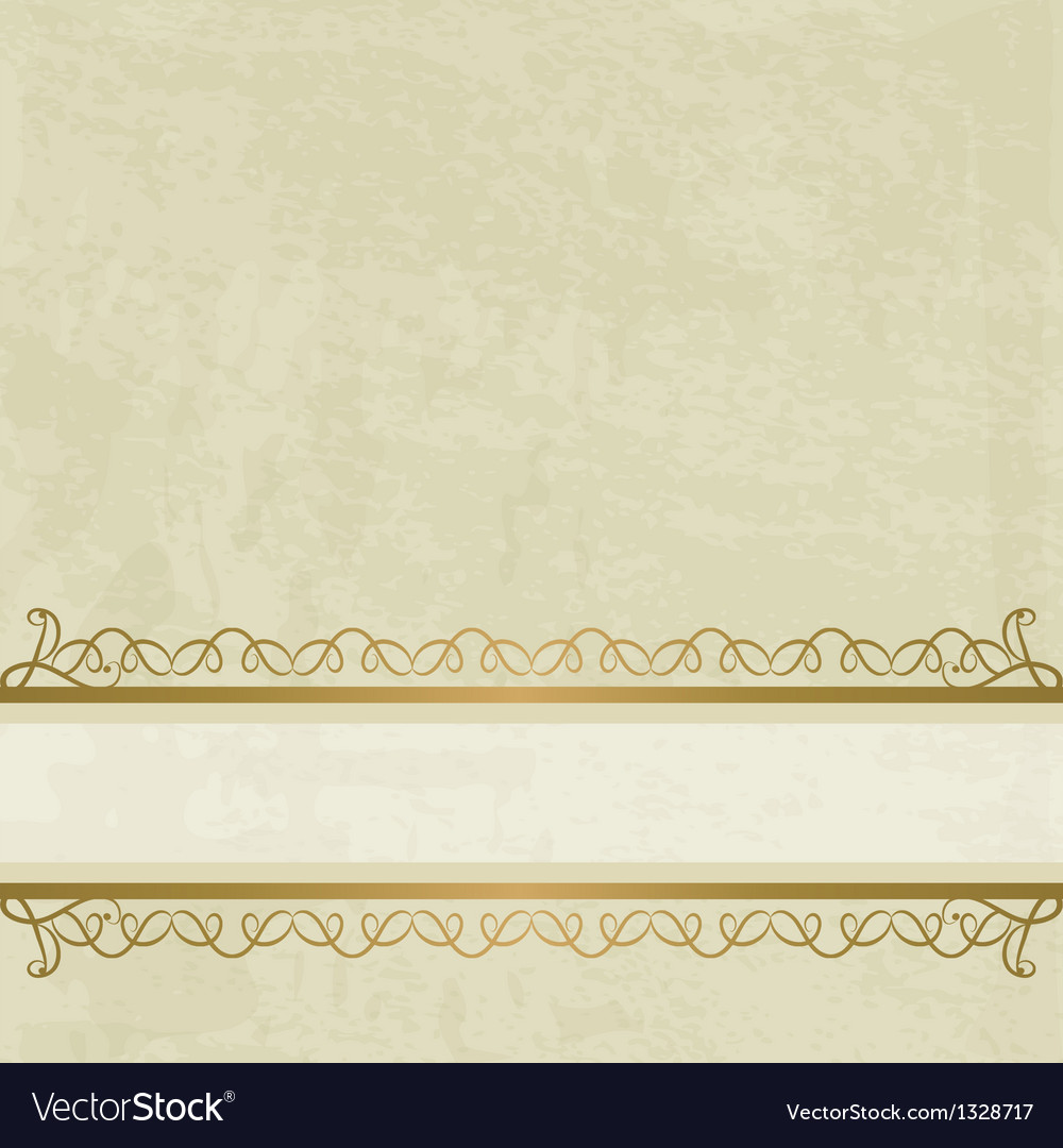 Pastel background with a calligraphic border vector | Price: 1 Credit (USD $1)