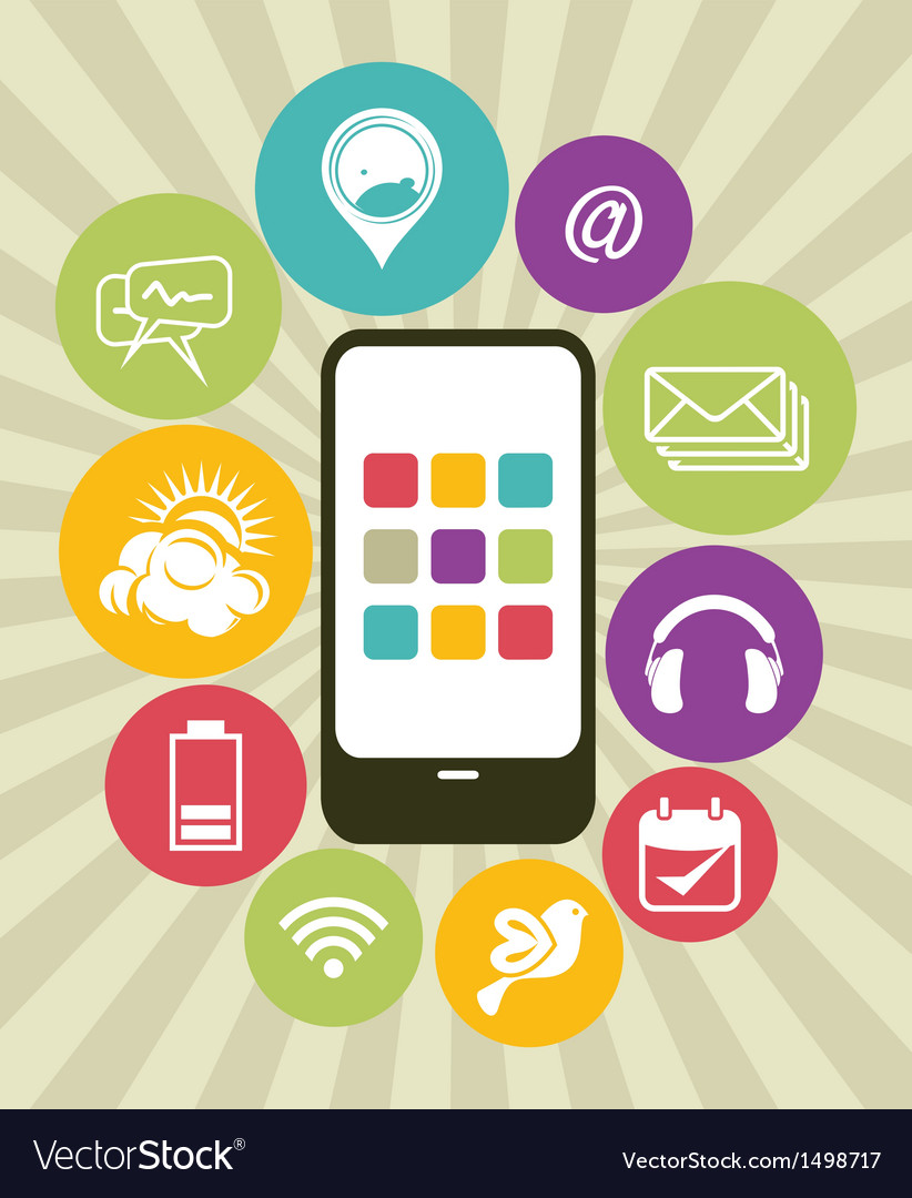 Phone apps icons vector | Price: 1 Credit (USD $1)