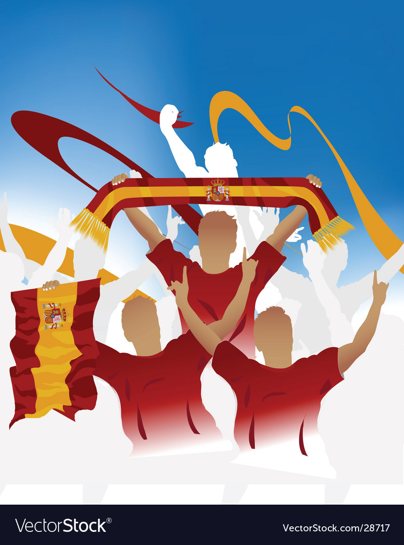 Spain crowd vector | Price: 1 Credit (USD $1)
