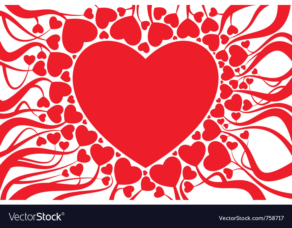 Valentine card decoration vector | Price: 1 Credit (USD $1)