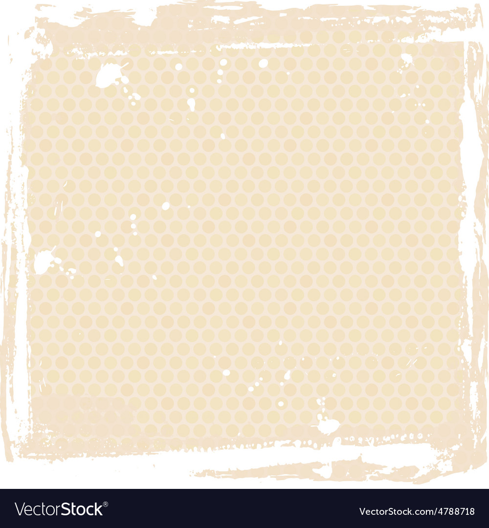 Abstract grunge frame beige background template vector | Price: 1 Credit (USD $1)