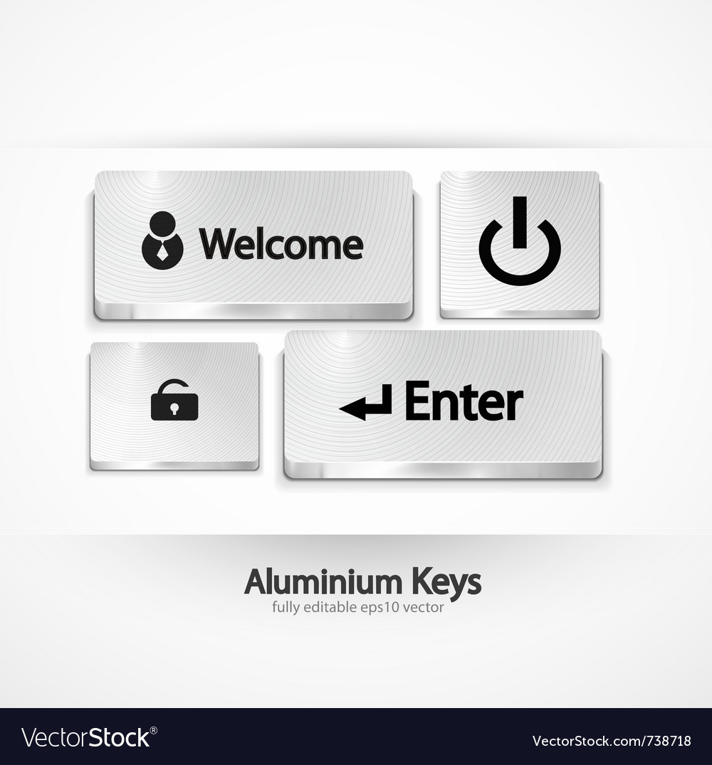 Aluminium buttons  keys vector | Price: 1 Credit (USD $1)