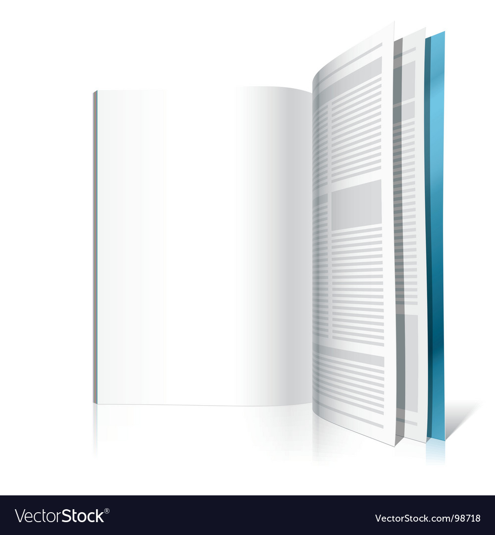 Blank magazine page vector | Price: 1 Credit (USD $1)