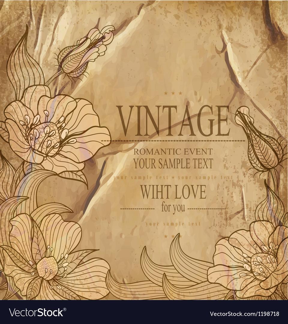 Congratulation vintage background vector | Price: 1 Credit (USD $1)