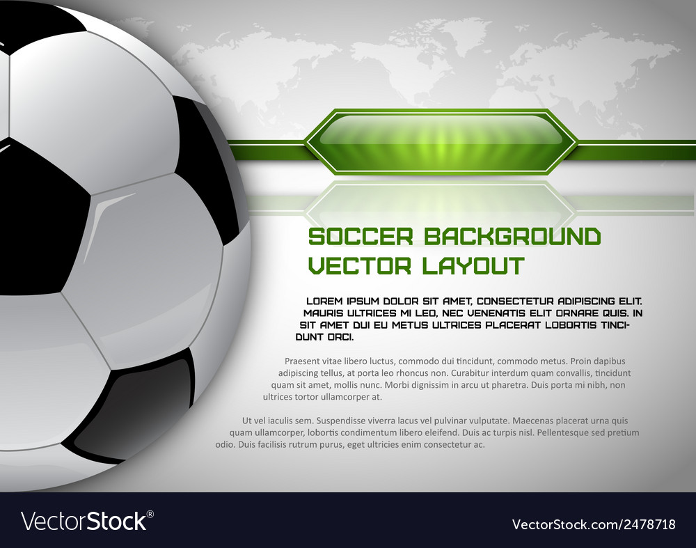 Football world gray layout vector | Price: 1 Credit (USD $1)