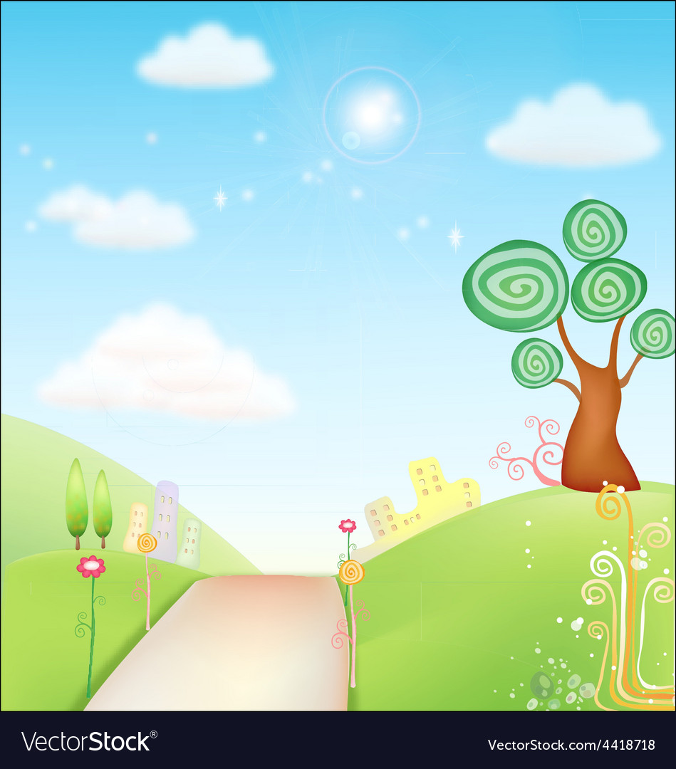 Fresh background nature vector | Price: 1 Credit (USD $1)