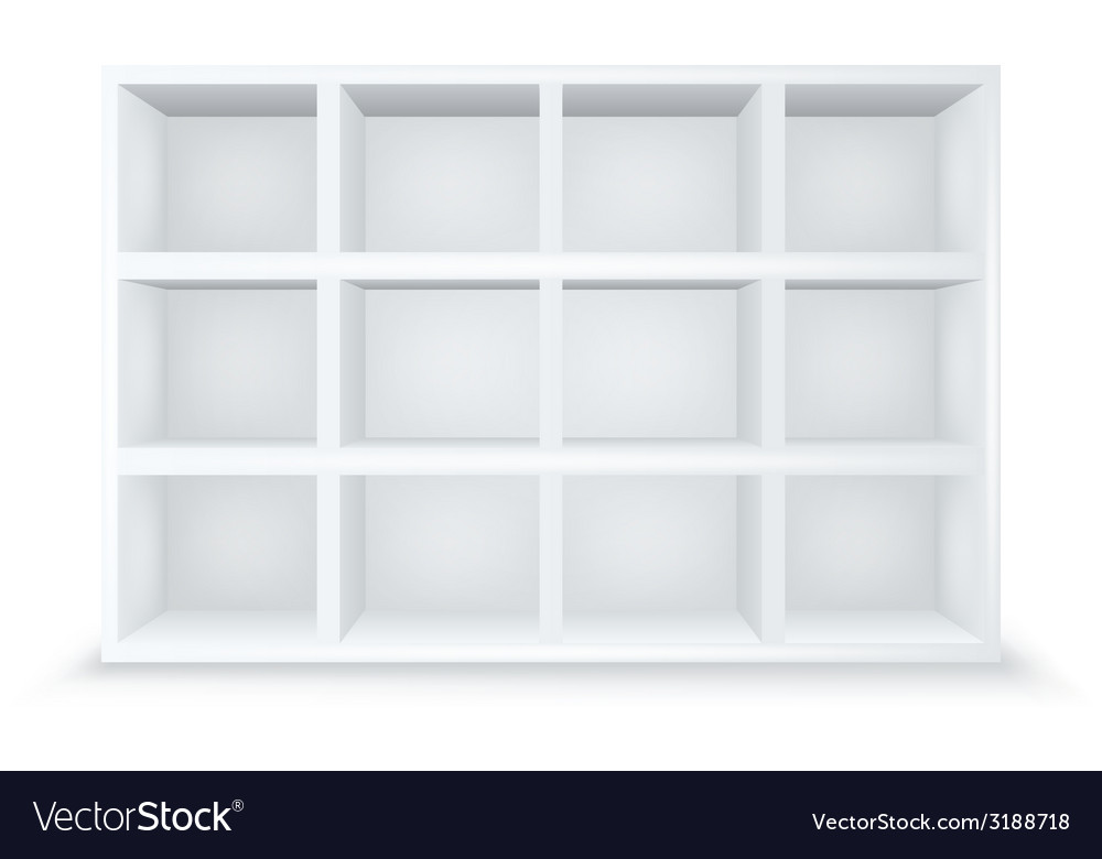Gallery interior with empty shelves vector | Price: 1 Credit (USD $1)