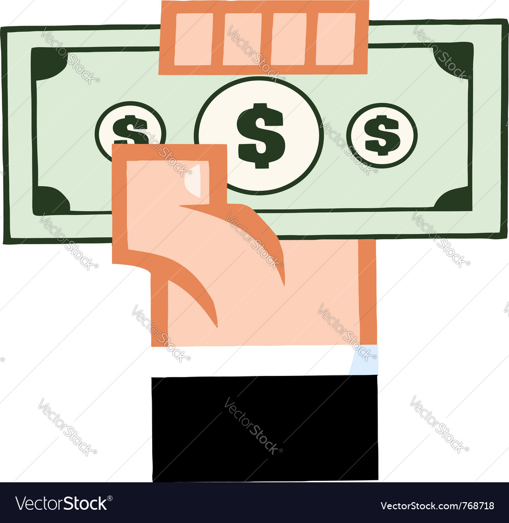 Hand with cash vector | Price: 1 Credit (USD $1)
